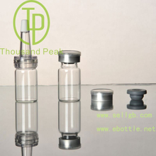 TP-2-04 7ml clear Bayonet bottle with butyl rubber stopper open aluminum alloy group and cover and a trumpet head