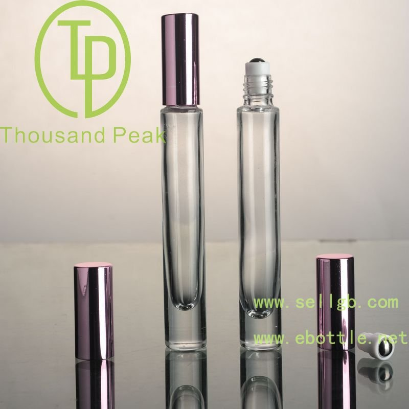 wholesale black aluminum empty refillable glass perfume bottle for cosmetics