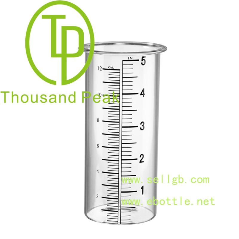 Free Shipping Glass Rain Gauge with low price