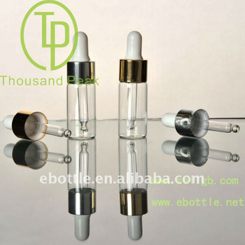 TP-2-12-2 5ml clear cosmetic container with aluminum and dropper
