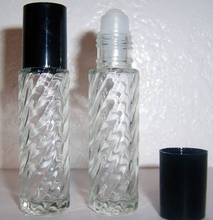 2ml clear glass roll on bottle for lip care